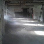 A dusty and unused space, soon to become a Gym